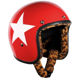Bandit Jet - Red with White Star & Leopard Liner