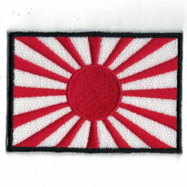 Patch - Japanese War Flag - Rising Sun (black border)