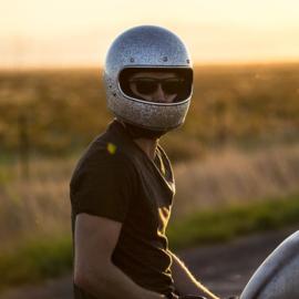BiltWell - Gringo Helmet - Brite Silver MetalFlake [ECE]