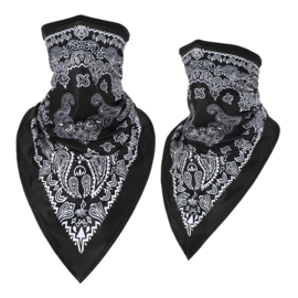 Black Paisley NeckTube / Triangle Tunnel