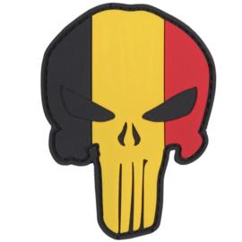 PVC & VELCRO PATCH - Punisher - Belgian flag - Belgische vlag - Belgium - België - la Belgique