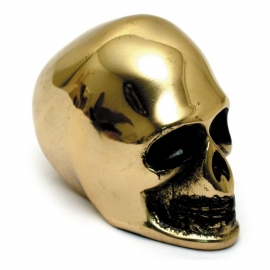 Gear Shift Knob - Shifter - Polished Brass Skull (Heavy)
