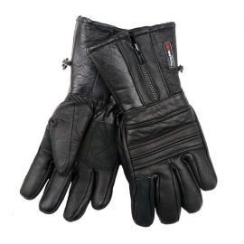 Gloves - Basic Motorcycle Gloves with zipper - Thinsulate 3M