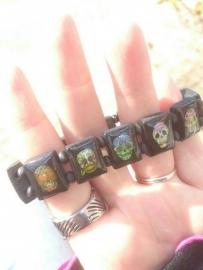Candy Skull Armband - Dia de los Muertos