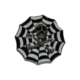 B124 - Belt Buckle - SpiderWeb