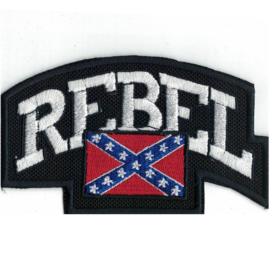 PATCH - Confederate flag - REBEL