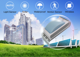 Security LED - PIR outdoor low & bright light - SOLAR