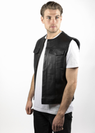 Leather Vest - Cut Off - SOA - Sons of Anarchy Style - John DOE - MC Outlaw Vest
