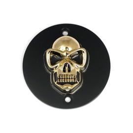 Skull Point Cover - GOLD / Black - SPORTSTER 86-03