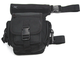 Hip / Leg Bag - SWAT - Black - heuptas