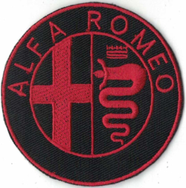 PATCH - red circle - Italian Car logo - ALFA ROMEO