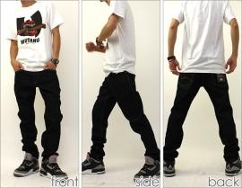 Dickies - DD003 Skinny Slim BLACK JEANS W32