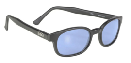 Sunglasses - X-KD's - Larger KD's - LIGHT BLUE - Matte black frame