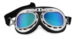 Goggles - RAF / Red Baron style - Blue Iridium Lens
