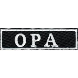 PATCH - Flash / Stick - OPA (grandpa in Dutch) BLACK & WHITE
