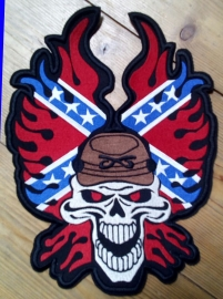 Large BackPatch - Rebel Skull - The South will Rise Again