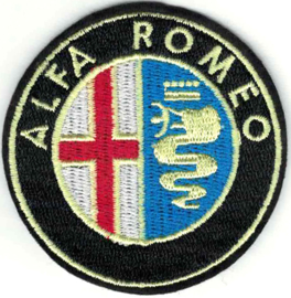 PATCH - circle - Italian Car logo - ALFA ROMEO