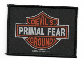 127 - PATCH - PRIMAL FEAR - Devil`s Ground - bar and shield