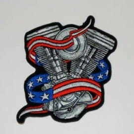 000 - BackPatch - Harley-Davidson Engine - USA - Large