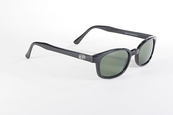 KD/'s Original Black Frame Dark Green Lens KD Biker Riding Sunglasses Glasses SOA