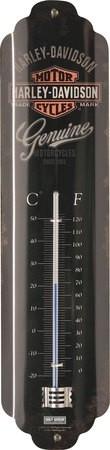 Harley-Davidson - Tin Sign - 'Genuine' Thermometer