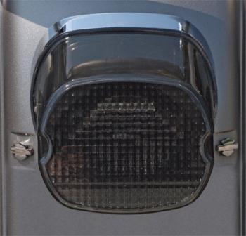 Harley-Davidson - Laydown Taillight Lens, SMOKE - Bottom Tag Window - L03-19