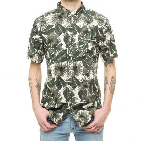 Dickies - S/S garage beach shirt - Moss - Green