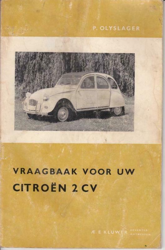 Citroën 2CV Vraagbaak - Olyslager - 4e Druk - 1965