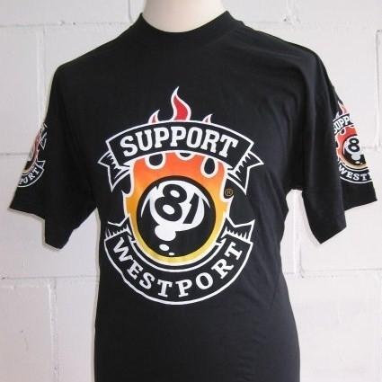 Support 81 - Westport - T-shirt 81-ball - Hells Angels