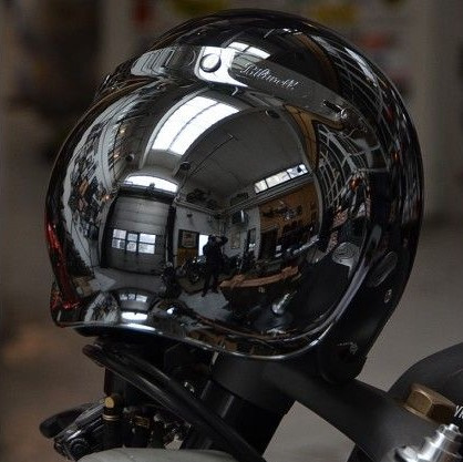 Biltwell Jet - Bubble Visor - Chrome Mirror / Anti-Fog