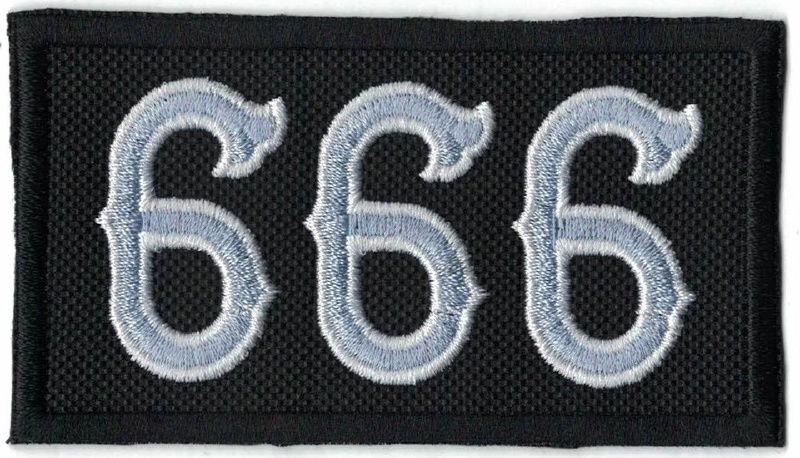 216 - Patch - Silver 666