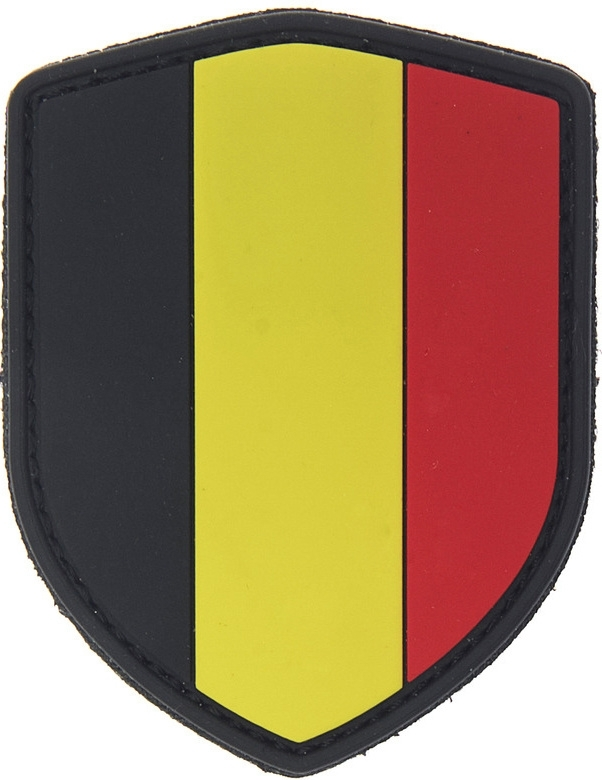 281 - PATCH PVC/VELCRO - Belgian Flag Shield