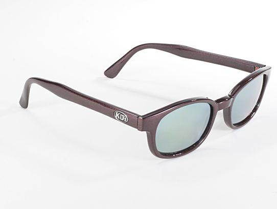 Sunglasses - Classic KD's - FLASH - DARk AUBERGINE frame & GOLD MIRROR lens