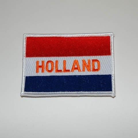 Patch - Dutch Flag - Vlag Holland - `HOLLAND` script