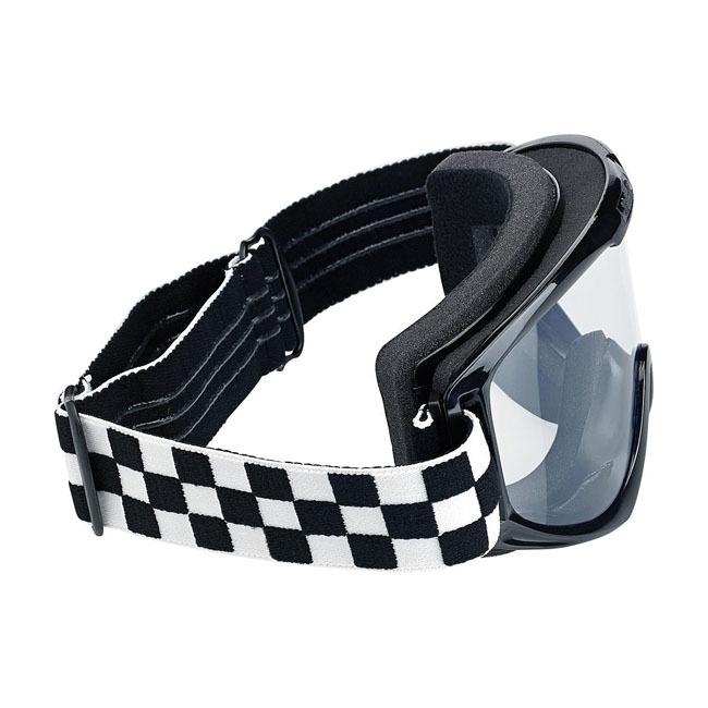 Goggles - Biltwell - Checkered MotoCross Style