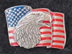 P118 - Pin - Eagle & USA Flag