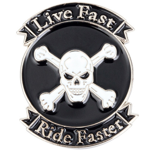 Pin - Skull and Bones - LIVE FAST , RIDE FASTER