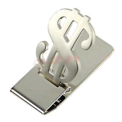 Money Clip Stainless Steel Dollar Sign