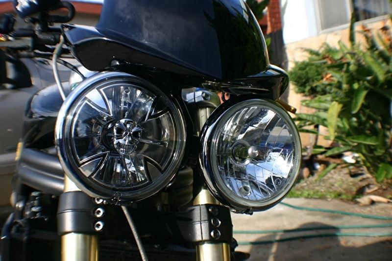 "Adjure 5 3//4/"" MOTORCYCLE HEADLAMP"