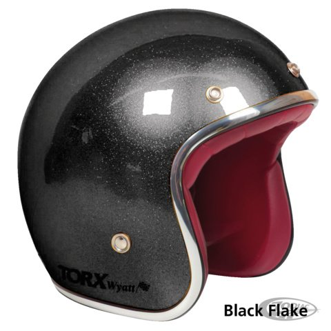 TORX WYATT BLACK METAL FLAKE - ECE - Small Shell!