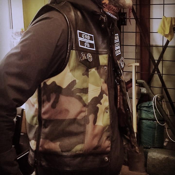 Woodland Camouflage Kevlar Vest - Cut Off - HQ Leather & Cordura