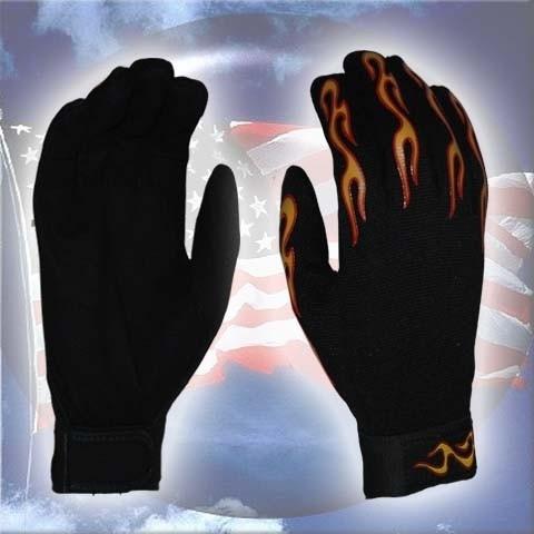 Gloves - Mechanics - Flames