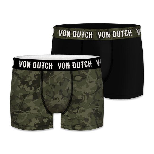 XXL Boxer Short - Von Dutch - double pack - Black and Camouflage