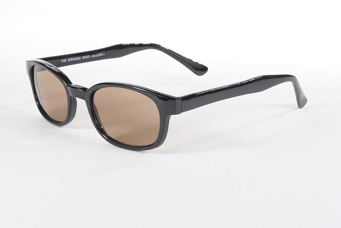 KD/'s Sunglasses Original Biker Shades Motorcycle Black Brown Lens 2121