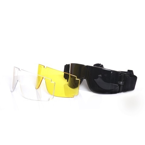MILITARY / AIRSOFT - goggles with 3 interchangeable lenses