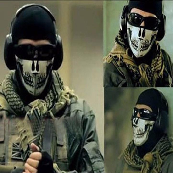 Face Mask - Half - Skull Neoprene - Basics
