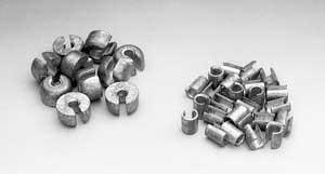 Chrome steel spoke wheel weights 3/4 ounce. Pack of 10 (OEM: 32-8502)