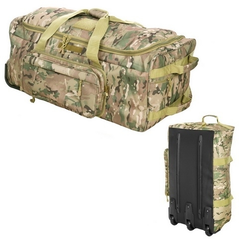 Large Travel Trolley Bag - DTC/Multi Camouflage or Black - 120ltr