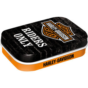 Riders Only - Harley-Davidson© Pill Box with peppermints
