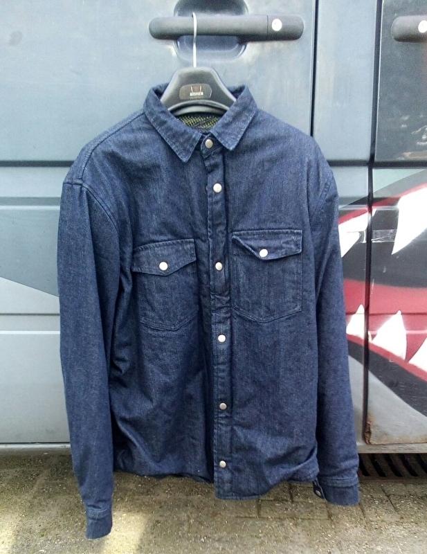 Dark Blue Denim - 100% Para-Aramid Protective Motorcycle Shirt